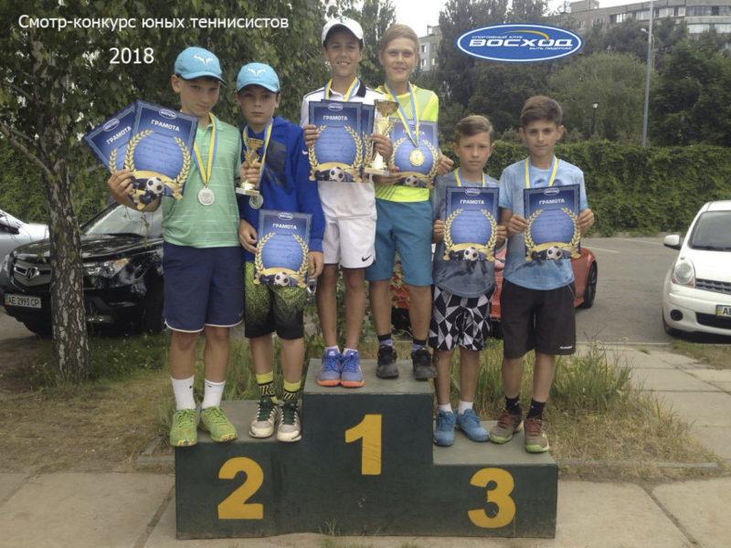 Смотр-конкурс юных теннисистов 2018